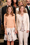 Princess Letizia of Spain attends an audience with a representation of the organizers of the program 'The advantages of staying in school'.September 11,2011. (ALTERPHOTOS/Acero)