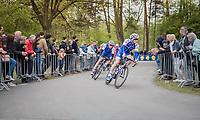 Zdenek Stybar (CZE/Quick Step Floors) & Laurens De Plus (BEL/Quick Step Floors) at the Tom Boonen farewell race/criterium 'Tom Says Thanks!' in Mol/Belgium