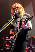 Megadeth - vocalist Dave Mustaine - performing live on the Priest Feast Tour of the UK at Wembley Arena, London UK - 21 Feb 2009.  Photo credit: George Chin/IconicPix