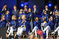 Azahara Munoz (EUR) gets picked to play in the morning foursomes during the Opening Ceremony of the Solheim Cup 2019 at Gleneagles Golf CLub, Auchterarder, Perthshire, Scotland. 12/09/2019.<br /> Picture Thos Caffrey / Golffile.ie<br /> <br /> All photo usage must carry mandatory copyright credit (© Golffile | Thos Caffrey)