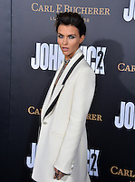 Ruby Rose at the premiere of &quot;John Wick Chapter Two&quot; at the Arclight Theatre, Hollywood. <br /> Los Angeles, USA 30th January  2017<br /> Picture: Paul Smith/Featureflash/SilverHub 0208 004 5359 sales@silverhubmedia.com