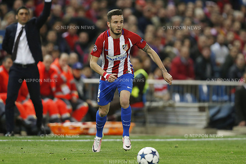 Saul Niguez (Atletico), MARCH 15, 2017 - Football / Soccer : UEFA Champions League round of 16 2nd leg match between Club Atletico de Madrid 0-0 Bayer 04 Leverkusen at the Vicente Calderon Stadium in Madrid, Spain. (Photo by Mutsu Kawamori/AFLO) [3604]