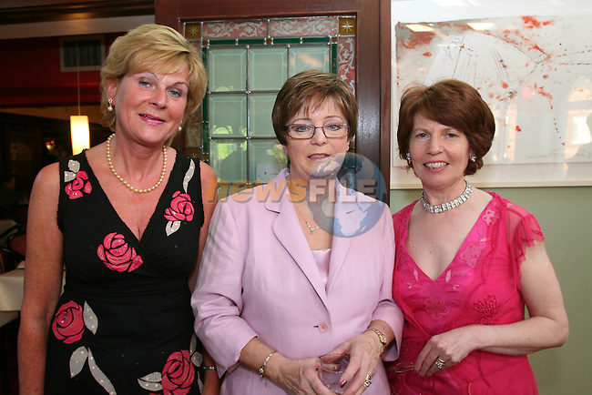 Bernie O'Reilly, Pat Thornton and Heather Kilkelly at the Dunleer Bridge Club 21st Anniversary in Donegans...Photo NEWSFILE/Jenny Matthews.(Photo credit should read Jenny Matthews/NEWSFILE)....This Picture has been sent you under the condtions enclosed by:.Newsfile Ltd..The Studio,.Millmount Abbey,.Drogheda,.Co Meath..Ireland..Tel: +353(0)41-9871240.Fax: +353(0)41-9871260.GSM: +353(0)86-2500958.email: pictures@newsfile.ie.www.newsfile.ie.FTP: 193.120.102.198.