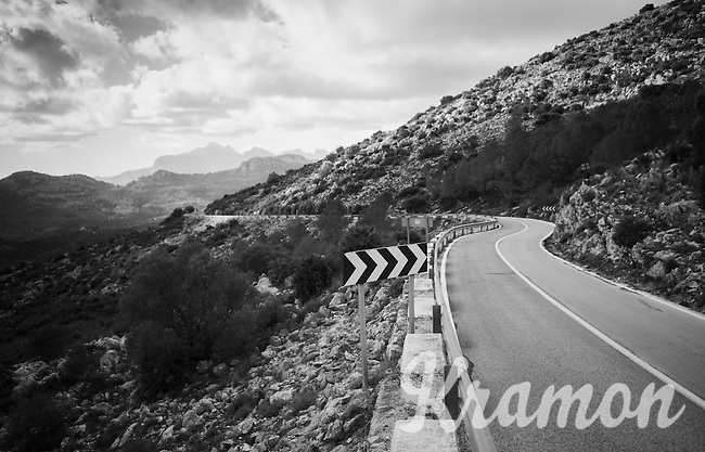 View from Coll de Rates (alt 626m/Alicante/Spain) in january<br /> <br /> riders/teams preparing for the 2017 season