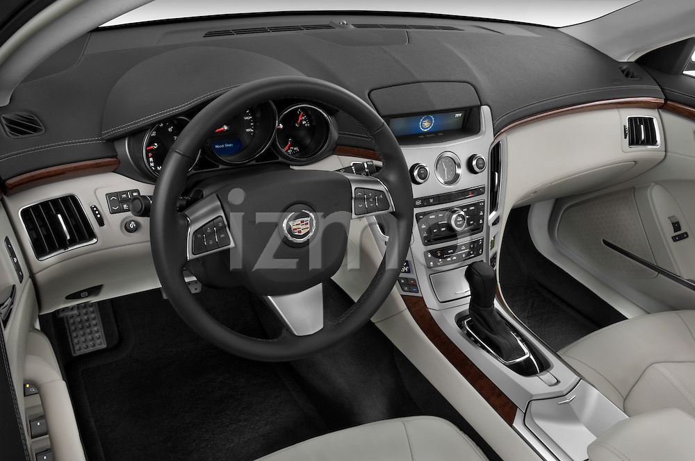High angle dashboard view of a 2008 Cadillac CTS sedan