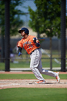 Houston Astros Nerio Rodriguez (75) bats during a Minor League Spring Training Intrasquad game on March 28, 2019 at the FITTEAM Ballpark of the Palm Beaches in West Palm Beach, Florida.  (Mike Janes/Four Seam Images)