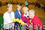 Marie Barron, Etta Dukes, Anne Flynn and Liz Raitt pictured at the older people's forum and north and East Kerry development physical activity event at the Brandon hotel on Friday.