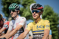 Richie Porte (AUS/BMC) at the start<br /> <br /> stage 7: Aoste &gt; Alpe d'Huez (168km)<br /> 69th Crit&eacute;rium du Dauphin&eacute; 2017