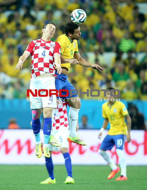 2014 Fifa World Cup opening game from group A against Brazil and Croatia.<br /> Ivan Perisic, Fred<br /> <br /> Foto &copy;  nph / PIXSELL / Sajin Strukic