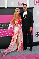 Luke Bryan &amp; Caroline Boyer at the Academy of Country Music Awards 2017 at the T-Mobile Arena, Las Vegas, NV, USA 02 April  2017<br /> Picture: Paul Smith/Featureflash/SilverHub 0208 004 5359 sales@silverhubmedia.com