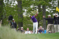 Harold Varner III (USA) on the 18th tee during the final round at the PGA Championship 2019, Beth Page Black, New York, USA. 20/05/2019.<br /> Picture Fran Caffrey / Golffile.ie<br /> <br /> All photo usage must carry mandatory copyright credit (© Golffile | Fran Caffrey)
