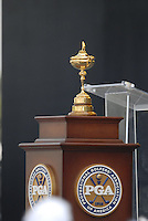 The Ryder Cup on show during the opening ceremony on Practice Day2 of the Ryder Cup at Valhalla Golf Club, Louisville, Kentucky, USA, 18th September 2008 (Photo by Eoin Clarke/GOLFFILE)