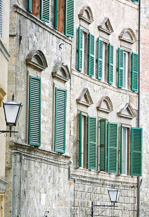 Europe, Italy, Tuscany, Siena, Street Lanterns