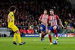 Atletico de Madrid's Saul Niguez and Borussia Dortmund's Axel Witsel during UEFA Champions League match between Atletico de Madrid and Borussia Dortmund at Wanda Metropolitano Stadium in Madrid, Spain. November 06, 2018. (ALTERPHOTOS/A. Perez Meca)