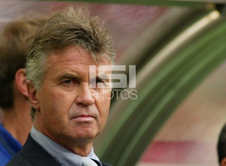 South Korea's head coach Guus Hiddink. The USA tied South Korea, 1-1, during the FIFA World Cup 2002 in Daegu, Korea.