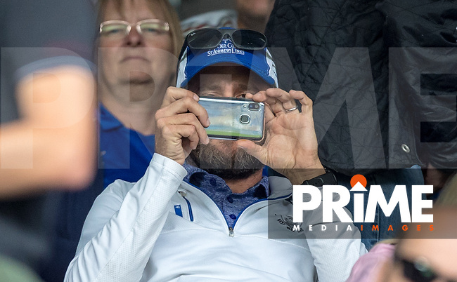 Pete Couhig (American investor at Wycombe Wanderers) during the Premier League match between Leicester City and Wolverhampton Wanderers at the King Power Stadium, Leicester, England on 10 August 2019. Photo by Andy Rowland.