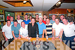 Mike the Pies Golf Society Captains prize:Members of Mike the Pies Bar Golfing Society, Listowel picture at their annual captains prize night at the bar in Listowel on Saturday night last. Froint : Mike Canavan, Brendan Kelliher, Tommy Canavan, John O'Connor, winner, Alan Grimes, captain, James Dore, Theo Lynch & John Dore. Back : Mikey Canavan, Dan Molyneaux, Adrian Grimes, Keith Browne, Shane Sadler, Jojo Grimes, Louis O'Connell & Kevin O'Carroll.