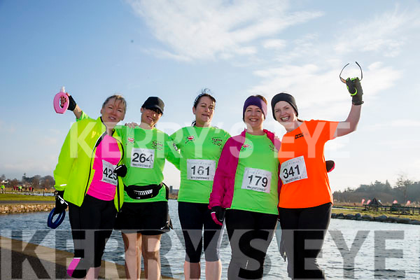 Carmel Quinn, Nina Mansfield, Margret Hanafin, Sandra Hickey and Fiona O'Connor, participants who took part in the Kerry's Eye Valentines Weekend 10 mile road race on Sunday.