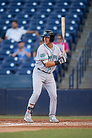 Daytona Tortugas first baseman Bruce Yari (44) at bat during a game against the Tampa Tarpons on April 18, 2018 at George M. Steinbrenner Field in Tampa, Florida.  Tampa defeated Daytona 12-0.  (Mike Janes/Four Seam Images)