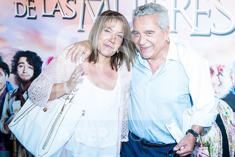 "Andres Pajares and Juana Gil during the red carpet of the theater play ""La Asamblea de las Mujeres"" at Teatro La Latina in Madrid. August 25. 2016. (ALTERPHOTOS/Borja B.Hojas)"