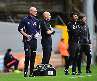 Port Vale manager Neil Aspin, left and Lincoln City manager Danny Cowley in the technical area<br /> <br /> Photographer Andrew Vaughan/CameraSport<br /> <br /> The EFL Sky Bet League Two - Port Vale v Lincoln City - Saturday 13th October 2018 - Vale Park - Burslem<br /> <br /> World Copyright © 2018 CameraSport. All rights reserved. 43 Linden Ave. Countesthorpe. Leicester. England. LE8 5PG - Tel: +44 (0) 116 277 4147 - admin@camerasport.com - www.camerasport.com