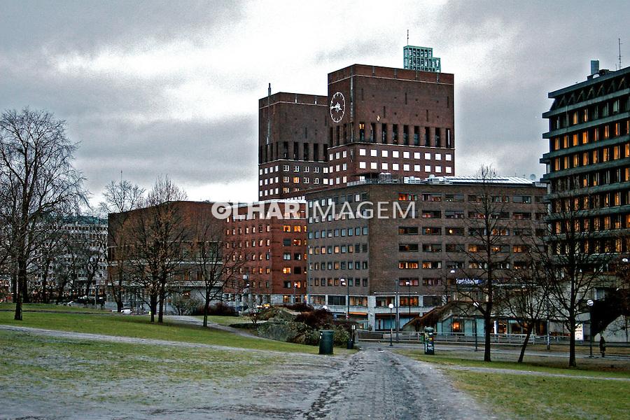 Edifício da prefeitura  em Oslo. Noruega. 2008. Foto de Marcio Nel Cimatti.