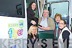 Kerry Flyer and and the North and East Kerry development who has launched a bus where you can plug in your laptop and go online anywhere in Kerry l-r: Nicola Lawless Kerry Flyer, Martina Ryan Leahy Listowel RC, David Fitzgibbon NEKD Bridie Mulvihill Listowel Resource Centre Patricia Dowling NEKD