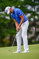 Henrik Stenson (SWE) watches his putt on 4 during Friday's round 2 of the PGA Championship at the Quail Hollow Club in Charlotte, North Carolina. 8/11/2017.<br /> Picture: Golffile | Ken Murray<br /> <br /> <br /> All photo usage must carry mandatory copyright credit (&copy; Golffile | Ken Murray)