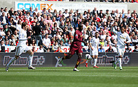 Pictured: (L-R) Michu, Yaya Toure, Jonathan de Guzman.<br />