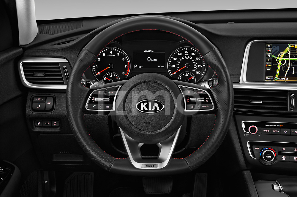 Car pictures of steering wheel view of a 2019 KIA Optima SX-Turbo 4 Door Sedan
