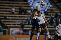 Seattle, WA - April 15th, 2017: Erica Skroski and Beverly Yanez during a regular season National Women's Soccer League (NWSL) match between the Seattle Reign FC and Sky Blue FC at Memorial Stadium.