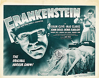 Frankenstein (1931) <br /> Lobby card<br /> *Filmstill - Editorial Use Only*<br /> CAP/KFS<br /> Image supplied by Capital Pictures