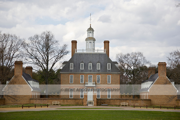 Governor's Palace at Colonial Williamsburg, Virginia.