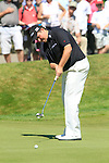 Shane Lowry putts on the 5th green during Round 3 of the BMW PGA Championship at  Wentworth, Surrey, England, 22nd May 2010...Photo Golffile/Eoin Clarke.(Photo credit should read Eoin Clarke www.golffile.ie)....This Picture has been sent you under the condtions enclosed by:.Newsfile Ltd..The Studio,.Millmount Abbey,.Drogheda,.Co Meath..Ireland..Tel: +353(0)41-9871240.Fax: +353(0)41-9871260.GSM: +353(0)86-2500958.email: pictures@newsfile.ie.www.newsfile.ie.