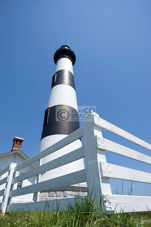 BODIE ISLAND LIGHTHOUSE CAPE HATTERAS NATIONAL SEASHORE OUTER BANKS NORTH CAROLINA USA
