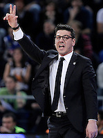 Uxue Bilbao Basket's coach Fotis Katsikaris during Spanish Basketball King's Cup match.February 07,2013. (ALTERPHOTOS/Acero)