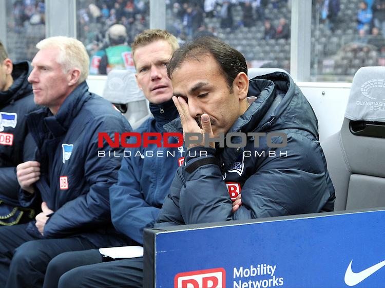 02.02.2014, OLympiastadion, Berlin, GER, 1.FBL, Hertha BSC vs 1.FC Nuernberg, im Bild Cheftrainer (Head Coach) Jos Luhukay (Hertha BSC Berlin)<br /> <br />               <br /> Foto &copy; nordphoto /  Schulz