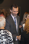 King Felipe VI of Spain visits ARCO Contemporary Art Fair inauguration in Madrid, Spain. February 26, 2015. (ALTERPHOTOS/Victor Blanco)