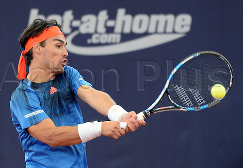 29.07.2015. Hamburg, Germany.  Fabio Fognini of Italy in action during the second round match against Albert Ramos-Vinolas of Spain at the ATP tennis tournament in Hamburg, Germany, 29 July 2015.