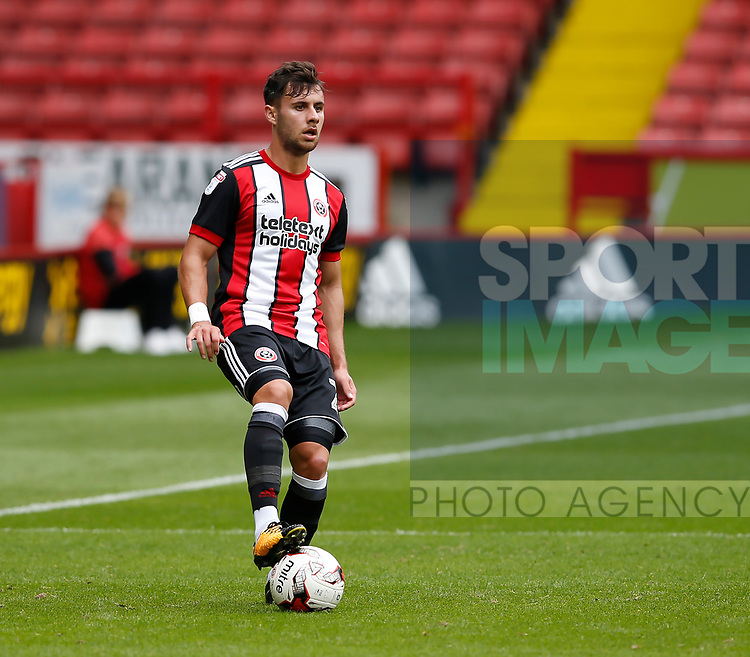 George Baldock of Sheffield Utd during the Professional Development U23 match at Bramall Lane, Sheffield. Picture date 4th September 2017. Picture credit should read: Simon Bellis/Sportimage