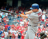 New York Mets right fielder Jay Bruce (19) connects for a two-run home run in the ninth inning against the Washington Nationals at Nationals Park in Washington, D.C. on Tuesday, July 4, 2017.  The Nationals won the game 11 - 4.<br /> Credit: Ron Sachs / CNP<br /> (RESTRICTION: NO New York or New Jersey Newspapers or newspapers within a 75 mile radius of New York City)