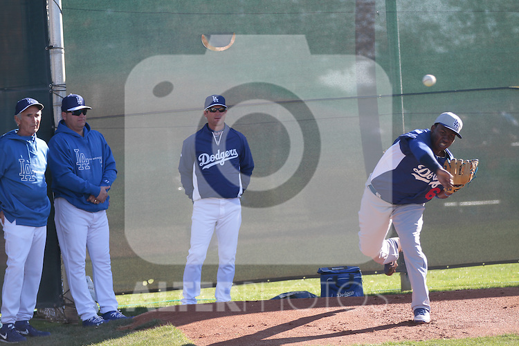 Los Angeles Dodgers,during Spring Trainig 2013..Camelback Ranch  in Arizona. February 25, 2013