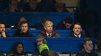 Arsenal Manager Arsene Wenger sits with press during the Carabao Cup semi final 1st leg match between Chelsea and Arsenal at Stamford Bridge, London, England on 10 January 2018. Photo by Andy Rowland.