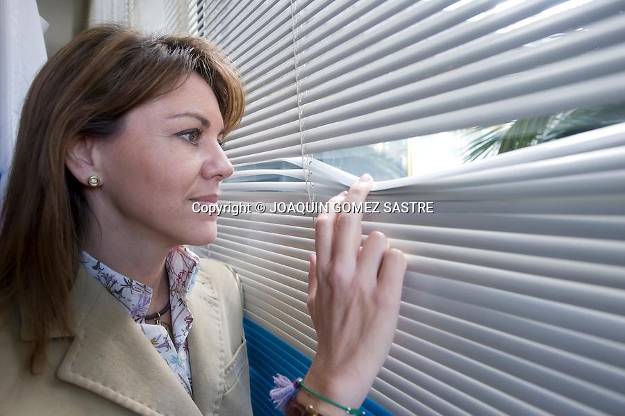 19 FEBRERO 2010 SANTANDER.Maria Dolores de Cospedal de la ejecutiva del PP posa para una entrevista..foto © JOAQUIN GOMEZ SASTRE