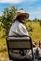 Safari tracker, Kwando Concession, Linyanti Marshes, Botswana.