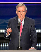 United States Senate Majority Leader Mitch McConnell (Republican of Kentucky) makes remarks at the 2016 Republican National Convention held at the Quicken Loans Arena in Cleveland, Ohio on Tuesday, July 19, 2016.<br /> Credit: Ron Sachs / CNP<br /> (RESTRICTION: NO New York or New Jersey Newspapers or newspapers within a 75 mile radius of New York City)