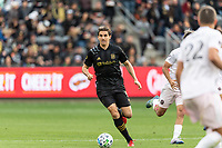 LOS ANGELES, CA - MARCH 01: Dejan Jakovic #5 of LAFC advances the ball in  match against Inter Miami CF during a game between Inter Miami CF and Los Angeles FC at Banc of California Stadium on March 01, 2020 in Los Angeles, California.