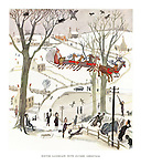 Winter Landscape with Father Christmas