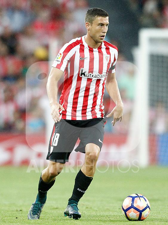 Athletic de Bilbao's Oscar de Marcos during La Liga match. August 28,2016. (ALTERPHOTOS/Acero)