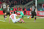 08.02.2019, RheinEnergieStadion, Koeln, GER, 2. FBL, 1.FC Koeln vs. FC St. Pauli,<br />  <br /> DFL regulations prohibit any use of photographs as image sequences and/or quasi-video<br /> <br /> im Bild / picture shows: <br /> Tor für Köln 2:1 durch Jhon Córdoba (FC Koeln #15),   nicht im Bild Svend Brodersen (St Pauli #33), hat keine Chance im tor <br /> <br /> Foto © nordphoto / Meuter